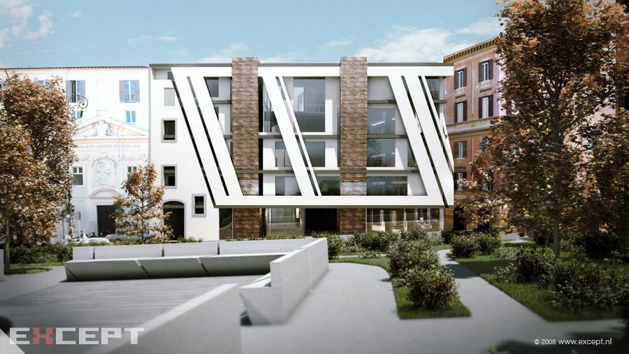 Except architecture rome mixed use apartments for Exterior facade design